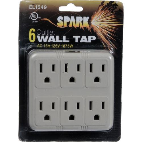 SPARK  Six Outlet Wall Adapter EL1549