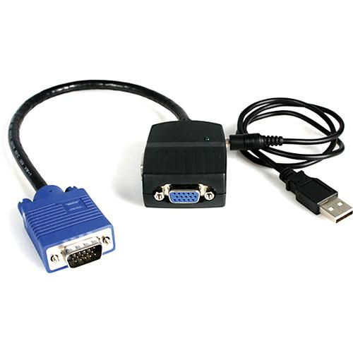 StarTech 2-Port VGA Video Splitter (Black, USB Powered) ST122LE