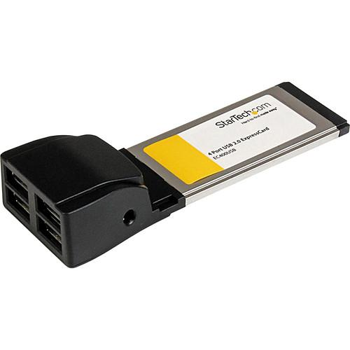 StarTech 4-Port ExpressCard USB 2.0 Adapter Card EC400USB