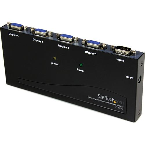 StarTech 4-Port High Resolution VGA Video Splitter ST124PRO