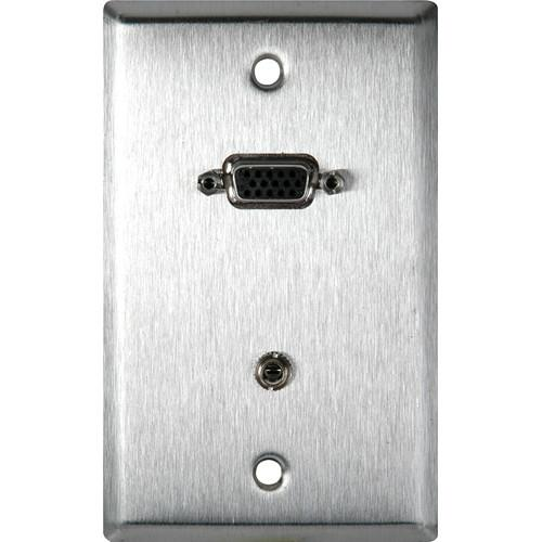 TecNec 1-Gang Stainless Plate with 15-pin HD Female WPL-1154-TB