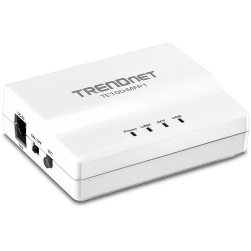 TRENDnet 1-Port Multi-Function USB Print Server TE100-MFP1