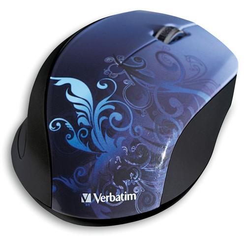 Verbatim Wireless Optical Design Mouse (Blue Design) 97785