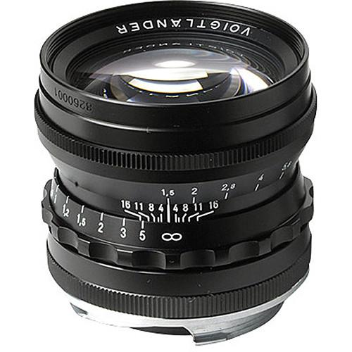 Voigtlander Nokton 50mm f/1.5 Aspherical Lens (Black) BA248B