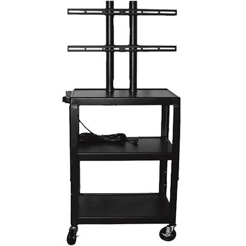 Vutec Adjustable Flat Panel Cart with Twin Post Design VFPC4226E