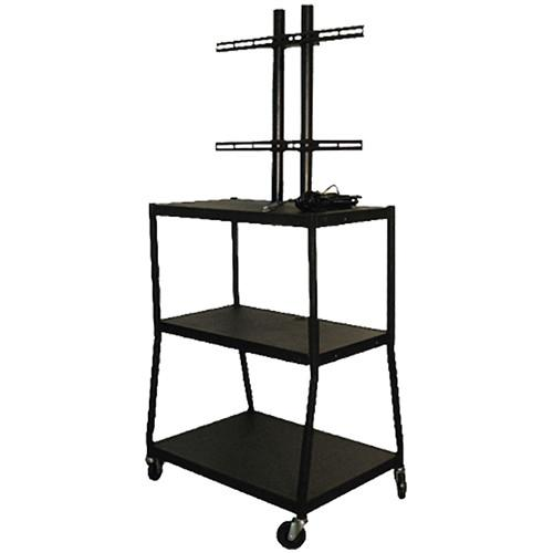 Vutec Adjustable Flat Panel Cart with Twin Post Design VFPC5434E