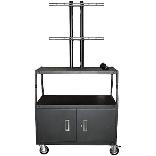 Vutec Wide Body Flat Panel Cart with Locking Cabinet VFPCAB4418E
