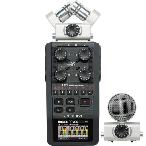 Zoom H6 Handy Recorder with Interchangeable Microphone System H6