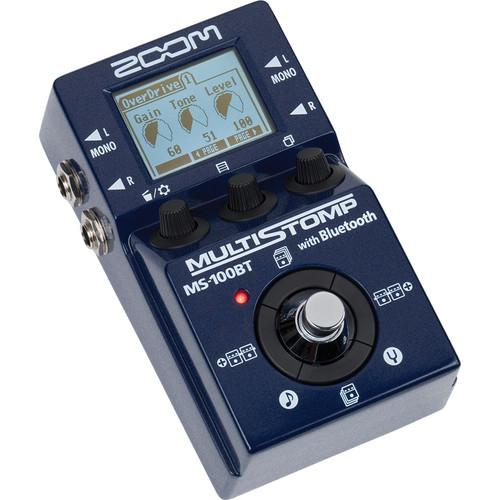 Zoom MS-100BT Multistomp Guitar Pedal with Bluetooth ZMS-100BT