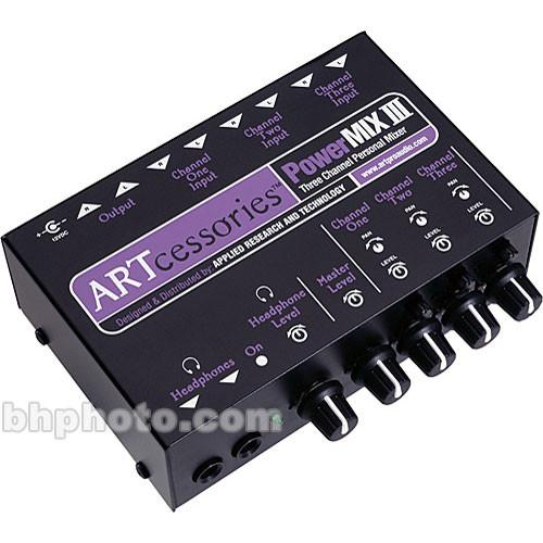 ART POWERMIX III 3-Channel Miniature Stereo Mixer PWRMIX-3