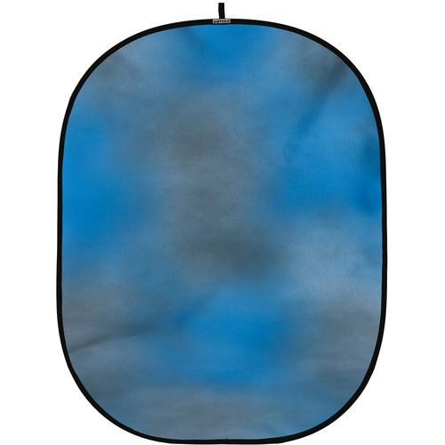 Botero #004 CollapsibleBackground (5x7') (Blue, Grey) C00457