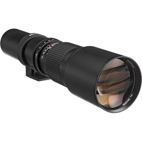 Bower 500mm f/8 Manual Focus Telephoto Lens for Minolta MD