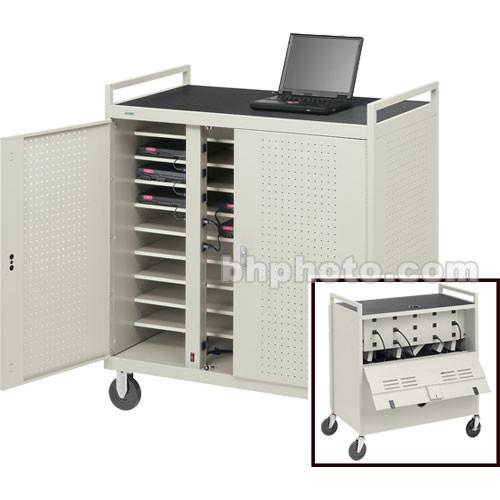Bretford Laptop Computer Storage Cart for 30 Units LAP30ERBBA-GM