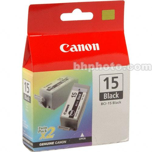 Canon  BCI-15 Black Ink Tank Twin Pack 8190A003