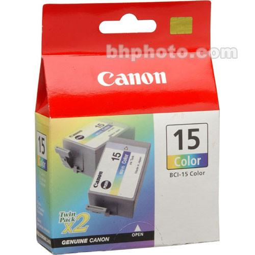 Canon  BCI-15 Color Ink Tank Twin Pack 8191A003