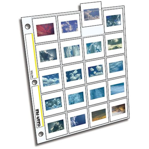 ClearFile Archival-Plus Slide Page, 35mm - 25 Pack 210025B