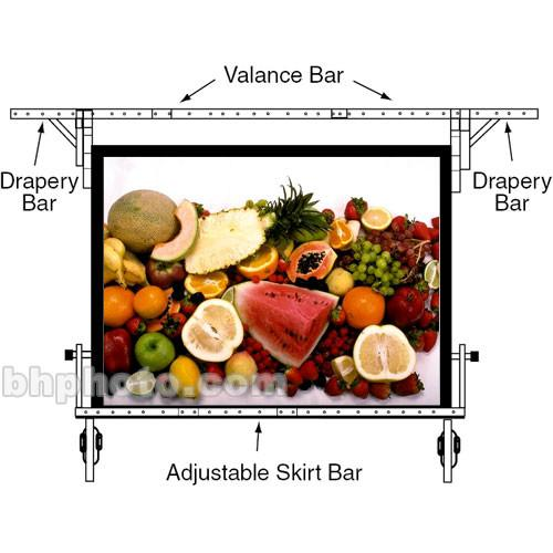 Draper Skirt Bar for Cinefold Truss Projection Screen - 9 222013