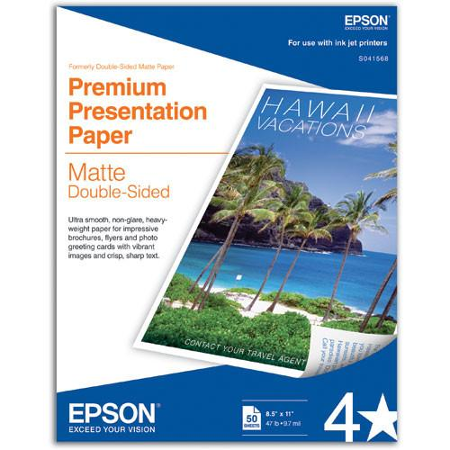 Epson Double Sided Matte Paper 8.5x11