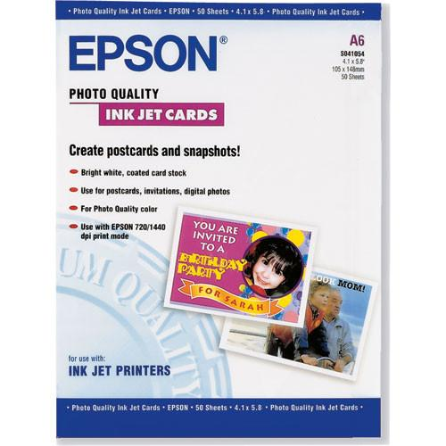 Epson Photo Quality Inkjet Cards - 4.1x5.8