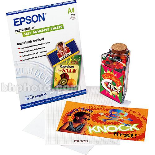 Epson Photo Quality Self-Adhesive Sheets - S041106