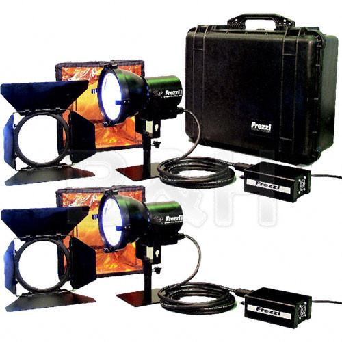 Frezzi 200 Watt Super-Sun Gun HMI 2 Light Kit (30V DC) 92712