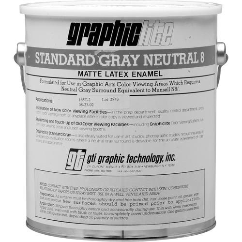 GTI Standard Gray Neutral 8 Vinyl Latex Paint - 1.0 Gallon N8/G