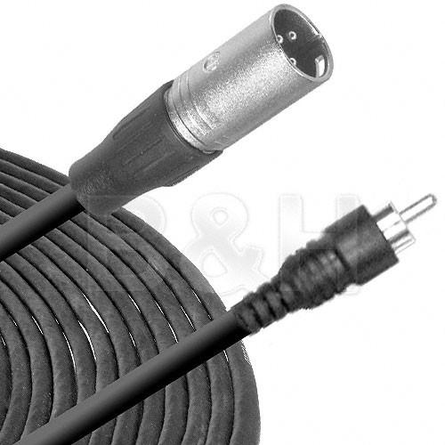 Hosa Technology RCA Male to 3-Pin XLR Male Audio Cable XRM-110