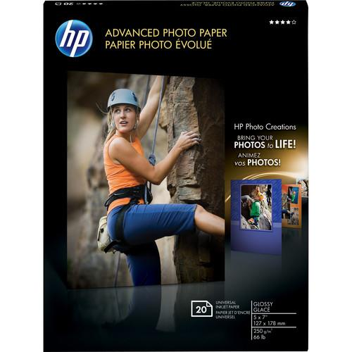 HP Advanced Photo Paper (Glossy) - 5 x 7