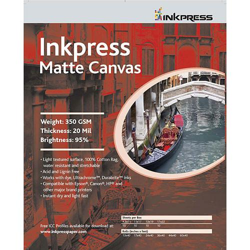 Inkpress Media Matte Canvas - 11 x 17