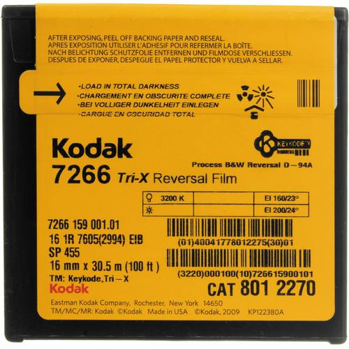 Kodak #7266 TXR455 16mm Tri-X (100' Roll) 8012270