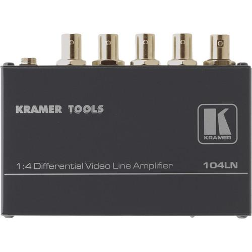 Kramer 104LN 1x4 Composite Video Line Amplifier 104LN