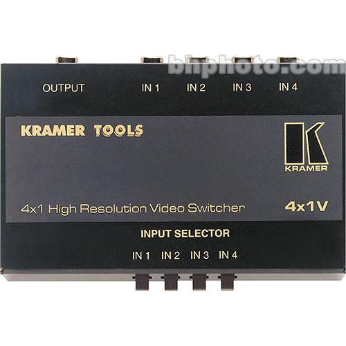Kramer 4X1V Mechanical Video Switcher, 4x1, (RCA) 4X1V