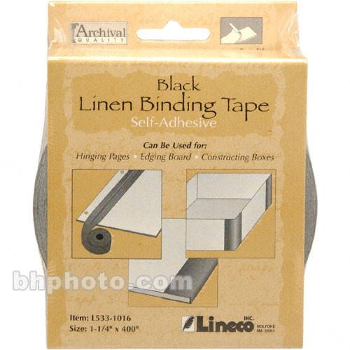 Lineco Linen Tape - Self-Adhesive - Black - 1.25