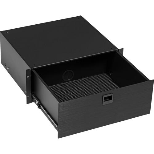 Middle Atlantic D4 4-Space Rack Drawer - Black Brushed D4