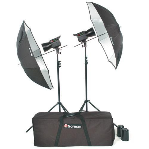 Norman Allure C1000 2 Lights/Umbrellas/Stands Kit 812779