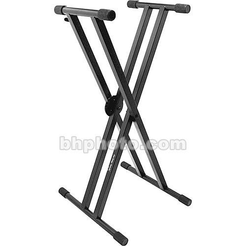 On-Stage KS7291 Pro Heavy-Duty Double-X Keyboard Stand KS7291