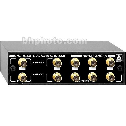 RDL RU-UDA4 - Unbalanced Stereo Distribution Amplifier RU-UDA4