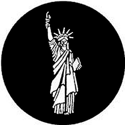 Rosco Steel Gobo #7307 - Statue of Liberty 250773070860