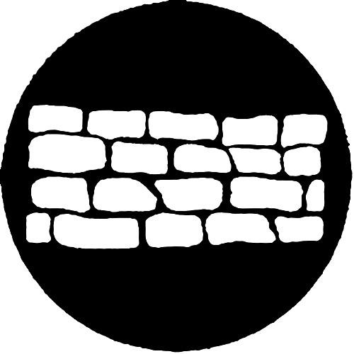 Rosco Steel Gobo #7519 - Stone Wall 1 250775190860