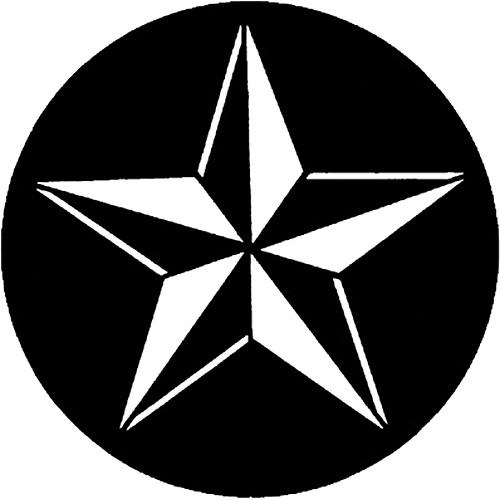 Rosco Steel Gobo #7598 - 3D Star - Size B 250775980860