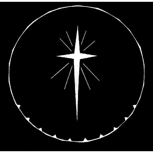 Rosco Steel Gobo #7707 - Star of Bethlehem - Size A 250777071000