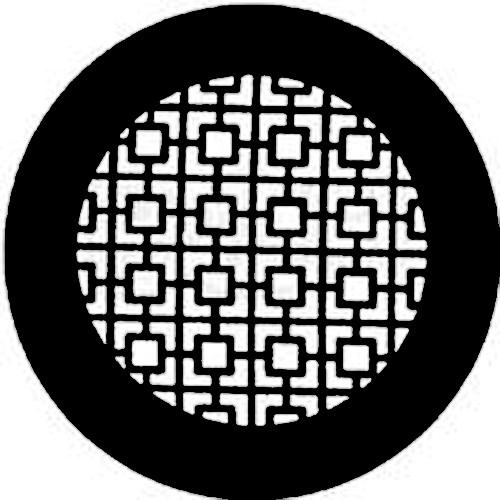 Rosco Steel Gobo #7740 - Chinese Screen - Size B 250777400860