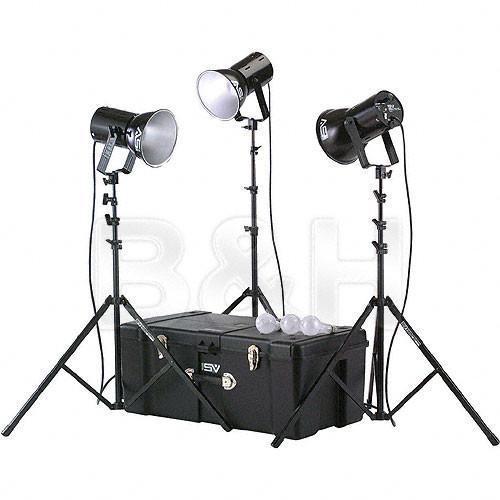 Smith-Victor K82 3-Light 750 Watt Ultra Cool Portable Kit 401461