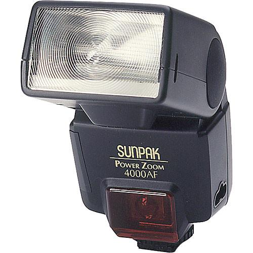 Sunpak PZ-4000AF TTL Flash for Nikon Cameras (Black) 040N