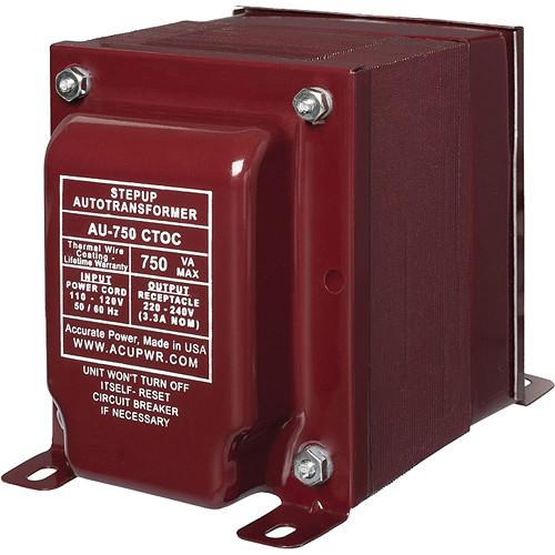 ACUPWR AU-750 CTOC Step Up Transformer (750W) AU-750 CTOC