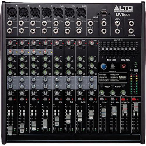 Alto Live 1202 12-Channel/2-Bus Mixer with DSP and USB LIVE 1202