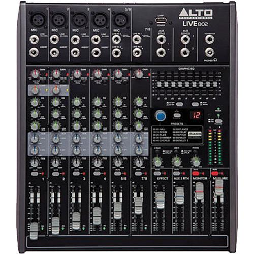 Alto Live 802 8-Channel/2-Bus Mixer with DSP and USB LIVE 802
