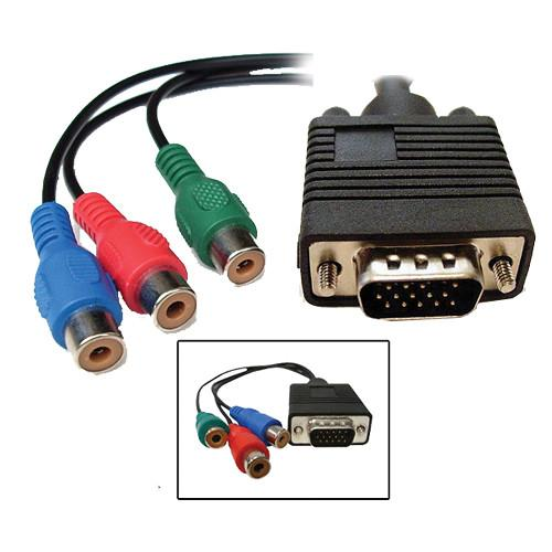 Avenview VGA HD15 to 3 x RCA Component Video VGA-COMP-CABLE