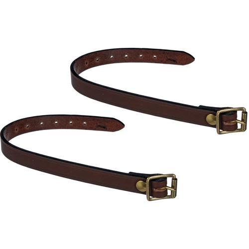 Billingham Leather Tripod Straps (Pair, Chocolate) 522054