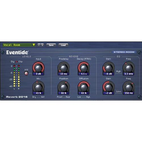 Eventide 2016 Stereo Room - Native Reverb A2 TO 2016 STEREO ROOM